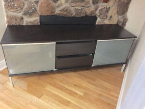 TV unit with drawers , brown