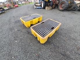 Choice of two bunded drum spill tray garage farm tractor