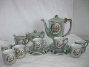 Vintage Porcelain Coffee Set - 30's or 40's
