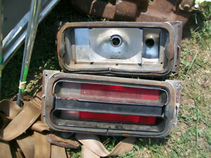 1972 Duster tail light housings, at Lombardy Swap Meet..