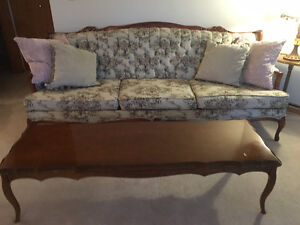 MUST GO FRENCH PROVINCIAL COUCH/CHAIR/TABLE