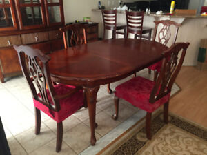 Solid Cherry oak 7 piece dining set