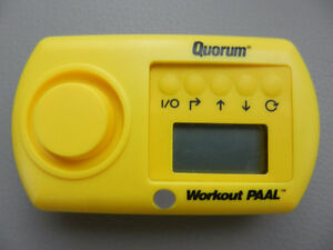 NEW QUORUM Workout Fitness PAAL alarm pedometer calorie counter