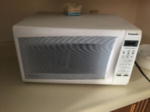 Panasonic white over the counter microwave