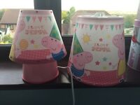 Peppa Pig lamp and ceiling light shade