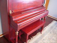 Antiqued upright piano