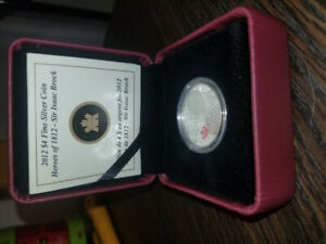 99.99% pure silver war of 1812 sir isaac brock coin