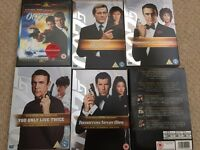 James Bond films selections - great condition
