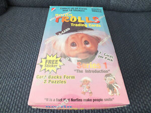 TROLLS TRADING CARDS FACTORY SEALED WAX BOX NORFIN