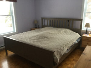 King size bed with bed base