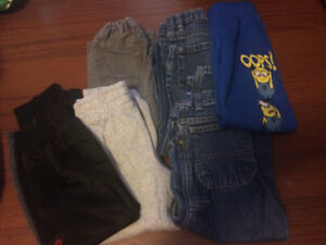 6 pairs of boys Size 4 &  5 Pants
