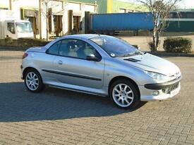 PEUGEOT 206 COUPE CABRIOLET SE 2001 Petrol Manual in Silver