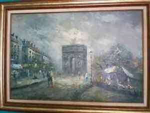 French impressionist oil painting Arc de Triomphe,2x3 circa.1828