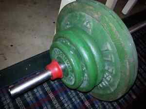 Weight bench bar and 120 lbs