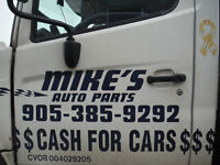 SCRAP CARS $300.00 LARGE $250.00 MEDIUM $200.00-SMALL