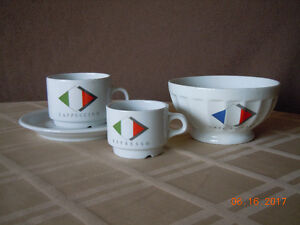 CUPS/TASSES: Cappuccino, Espresso, Cafe au lait & Saucers