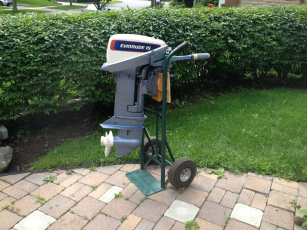 Used 1976 Evinrude 15 hp 2 stroke short shaft