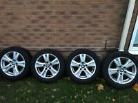 Genuine BMW wheels 16 inch alloys, with winter tyres
