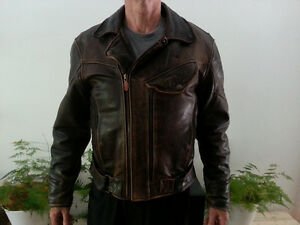First Gear Brown Leather Chief Jacket