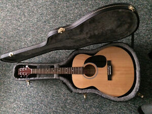 Acoustic Guitar and Leather case