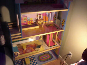 Doll House With Furniture And Elevator For Sale!