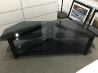 Large Ikea glass tv stand
