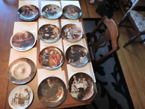 Norman Rockwell Collector Plates - 12