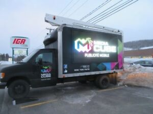 LED Sign advertising truck