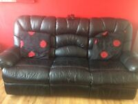 3+2 seater leather recliner
