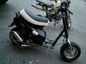 Two Pocket bike for sale #1 Vespa look alike #2 dirt bike