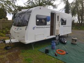 2018 Bailey Pegasus Rimini 4 berth caravan with air awning.