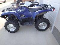 2011 Yamaha Grizzly 550 EPS w/winch & Snow Plow 340 km NO GST