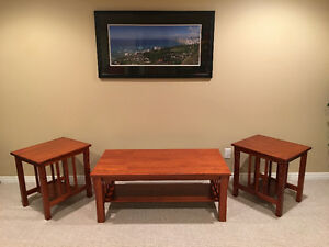Coffee table and 2 matching end-tables