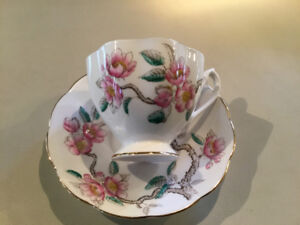 """Queen Anne"" English bone china cup and saucer - vintage"