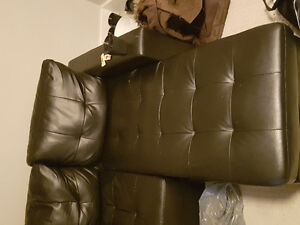 Leather couch /sectional