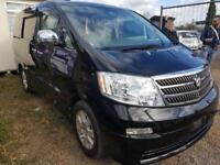 TOYOTA ALPHARD CAMPERVAN WITH SIDE CONVERSION, ROCK & ROLL BED & MICROWAVE