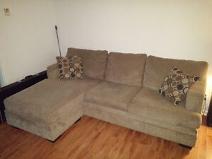 L Sectional With Chaise for sale (2 piece good condition)