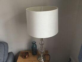 Cream lampshades (2)