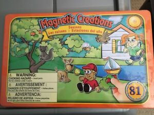 Rare Large 81 Piece Magnetic Creations (Seasons)  Play Set