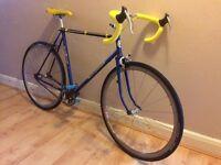 Elswick Puma bike , single speed built on vintage frame with new components, rigida rims