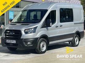 2020 Ford Transit TDCI 130ps 6 Seat DCIV Crew Van Premium MWB High Roof L2 H2 Wi