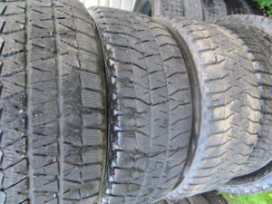 4 p205/55r16 bridgestone blizzack winter tires