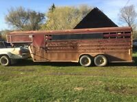 1992 Titan 20 foot stock trailer