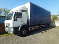MAN/ ERF M2000 18 ton 25ft curtain sider sleeper cab 2002 ideal export
