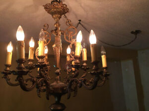 ANTIQUE CHANDELIERS AND DECORATIVE LIGHTING