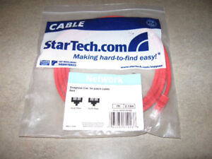 StarTech 7 foot Snagless Patch Cable-Red-New in package + bonus