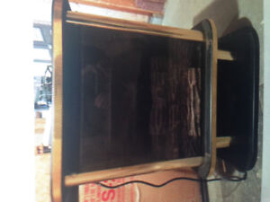 PROPANE FREESTANDING FIREPLACE HEATER AS MFR BY ''HEATILATOR''..