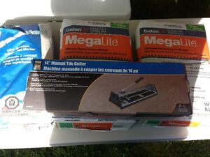tile cutter and magalite mortar and thinset