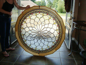 "44"" Custom Made Stain Glass Window"