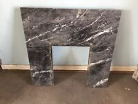 Fire surround back marble